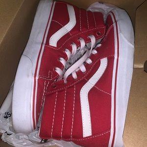 Vans Canvas Sk8-Hi Red Shoes